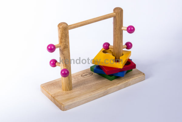 đồ chơi trẻ em bằng gỗ đường luồn đôi