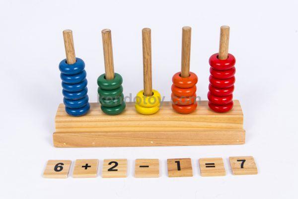 đồ chơi gỗ hàng rào học đếm