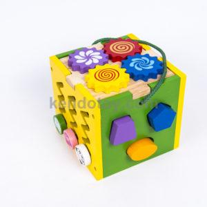 đồ chơi giáo dục gỗ hộp thả khối đa năng