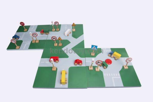 đồ chơi gỗ bộ sa bàn giao thông