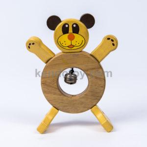 lắc con gấu đồ chơi gỗ an toàn