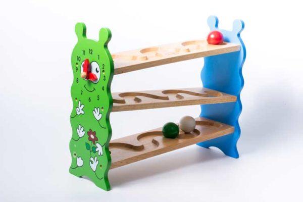 đồ chơi gỗ lăn banh zíc zắc hình sâu