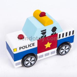 đồ chơi gỗ lắp ráp xe cảnh sát