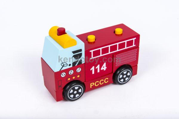 đồ chơi gỗ lắp ráp xe cứu hỏa