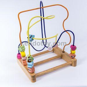 đồ chơi luồn hạt gỗ
