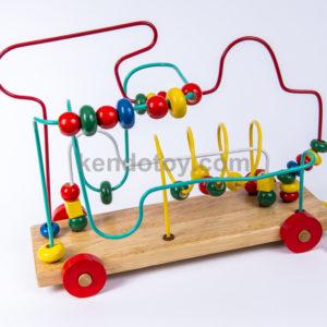 đồ chơi gỗ luồn hạt phi thuyền