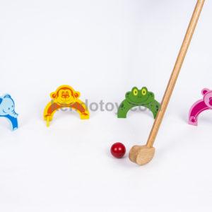 đồ chơi gỗ đánh golf 4 thú