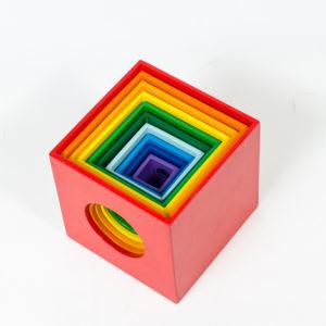 đồ chơi gỗ lồng hộp vuông 10