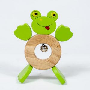 đồ chơi gỗ cho bé lắc con ếch
