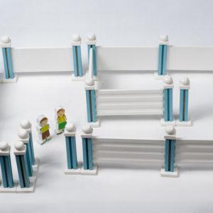 đồ chơi mầm non bộ xây dựng tường rào
