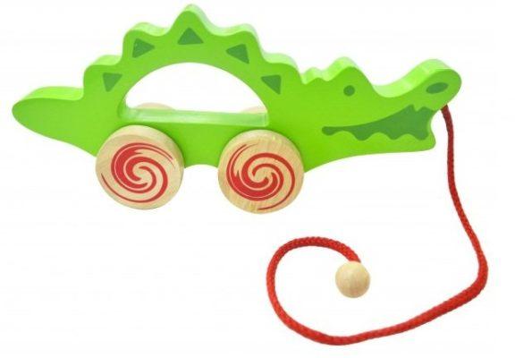 xe kéo cá sấu đồ chơi gỗ