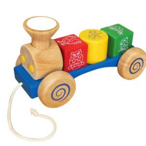 đồ chơi gỗ xe lửa nhỏ