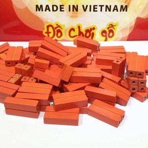 gạch gỗ xây dựng mầm non