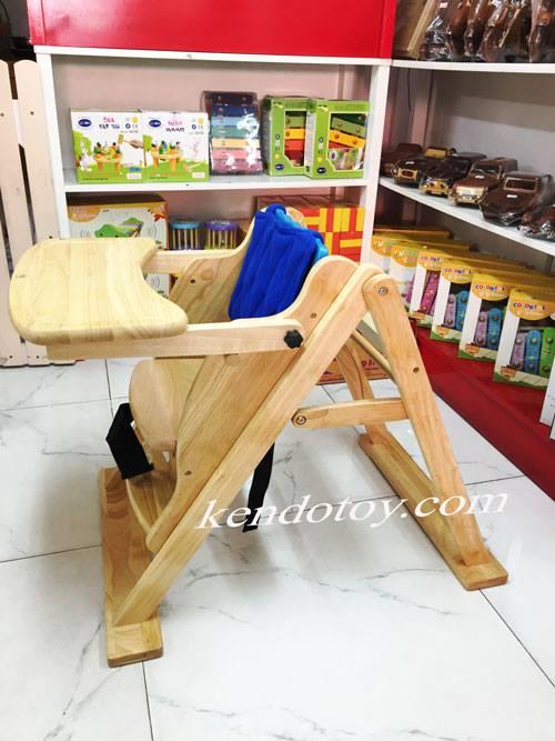 ghế ăn bột cá heo bằng gỗ