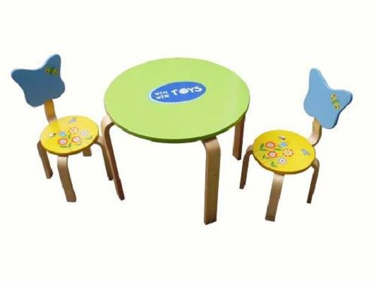 bàn ghế trẻ em ghế tựa lung hình bướm