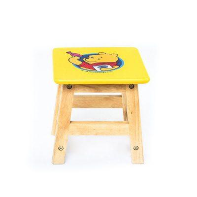 Ghế vuông in hình thú gỗ