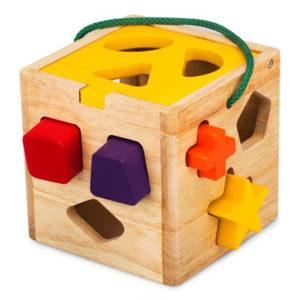 đồ chơi gỗ giỏ thả 12 khối cho bé