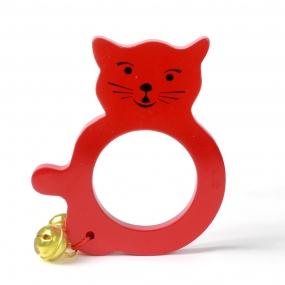 lục lạc mèo đồ chơi gỗ