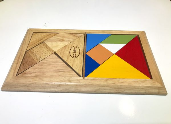 Tangram đôi trí uẩn gỗ