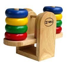 đồ chơi gỗ bập bênh cân bằng
