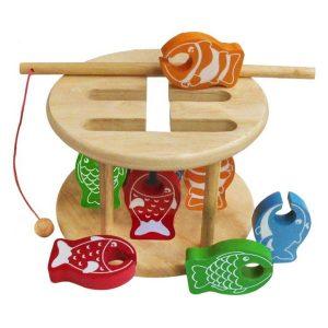 đồ chơi gỗ thử thách câu cá