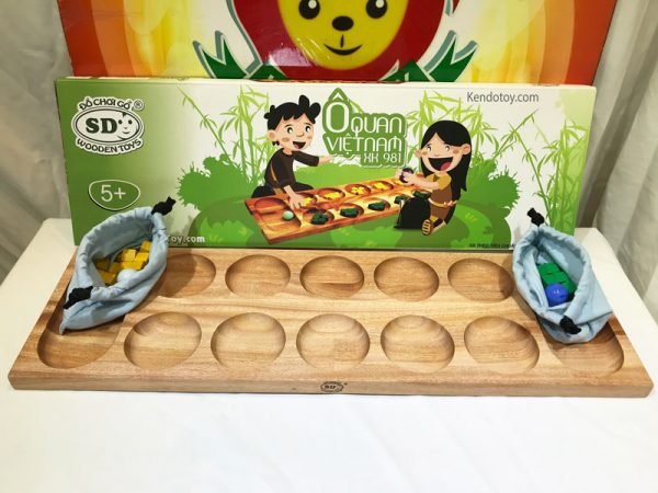 trò chơi ô ăn quan bằng gỗ