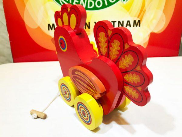 Xe kéo gà trống bằng gỗ