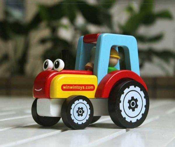 Xe máy cày đồ chơi gỗ