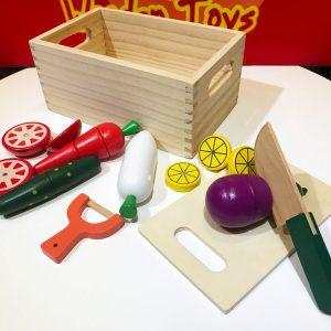 Đồ chơi cắt trái cây gỗĐồ chơi cắt trái cây gỗ