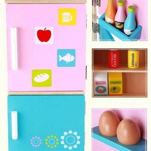 Tủ lạnh đồ chơi bằng gỗ