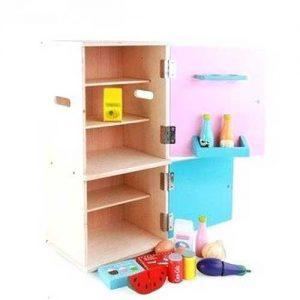 `Tủ lạnh đồ chơi bằng gỗ
