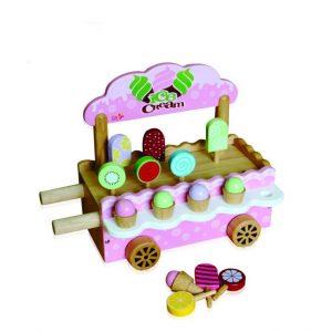 xe bán kem đồ chơi gỗ