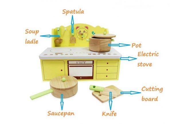 bếp nấu ăn đồ chơi gỗ