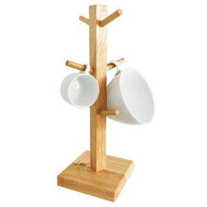 Cây treo ly thân vuông gỗ