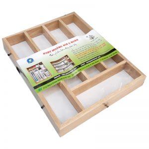 Khay gỗ đựng muỗng nĩa 6 ngăn