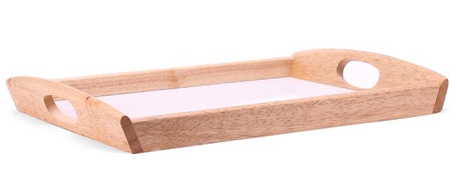 Khay trung gỗ tay cầm oval