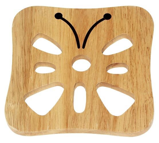 rế bằng gỗ hình bướm