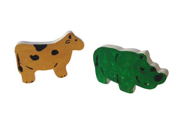 đồ chơi tô màu nước bằng gỗ các con vật khác nhau
