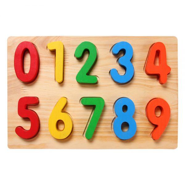 bảng chữ số nhận dạng bằng gỗ