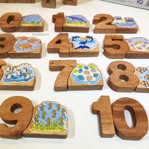 Bảng chữ số sinh vật biển đa năng