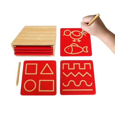 bảng luyện nét chữ cơ bản bằng gỗ