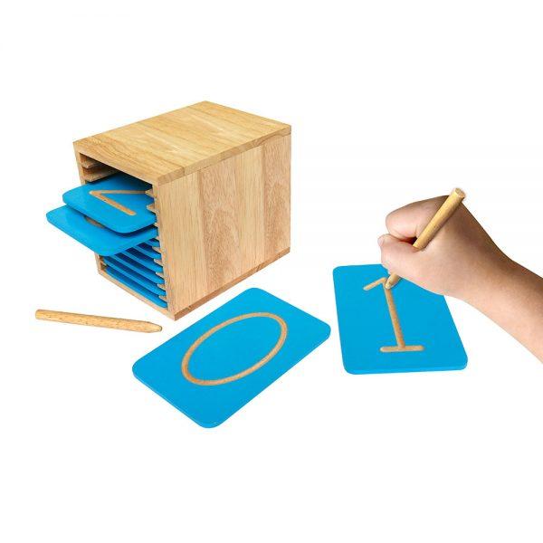 bảng luyện viết chữ số bằng gỗ