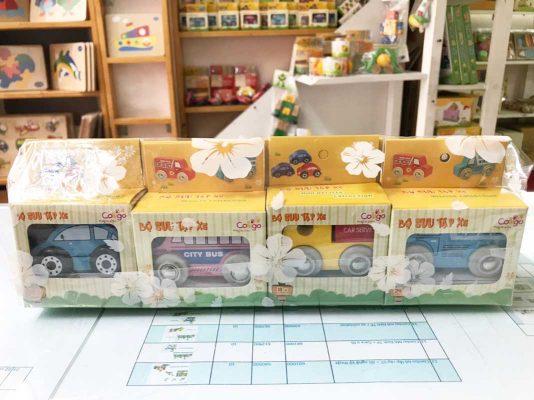 đồ chơi gỗ bộ sưu tập xe hơi