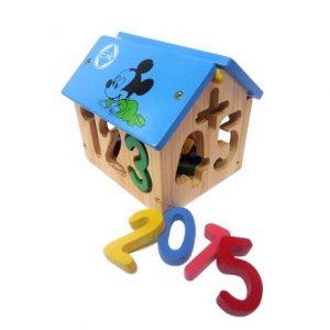 đồ chơi giáo dục bằng gỗ nhà thả số
