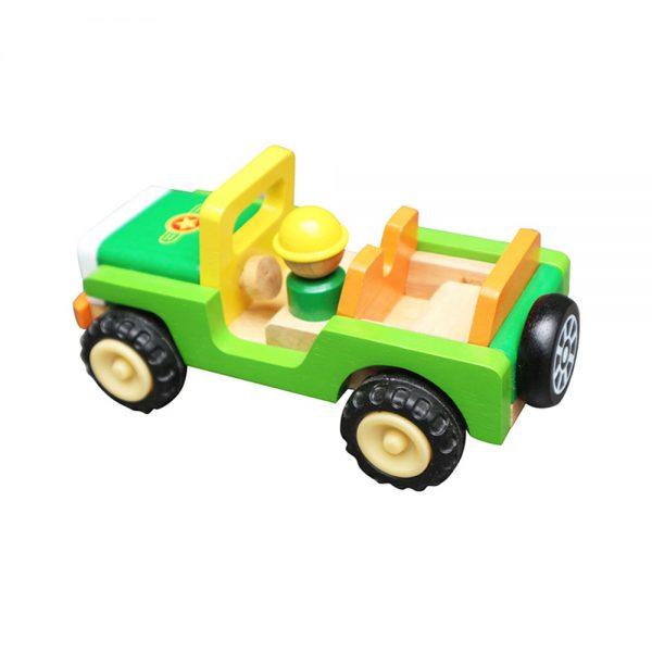 xe jeep đồ chơi gỗ cho bé