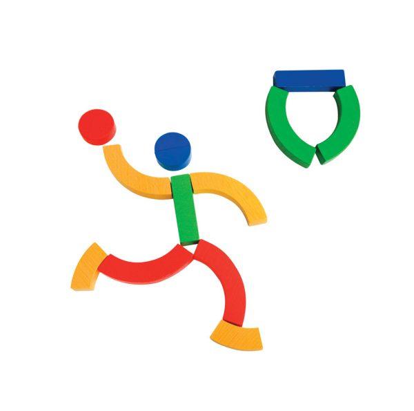 hộp xếp hình thể thao đồ chơi sáng tạo bằng gỗ