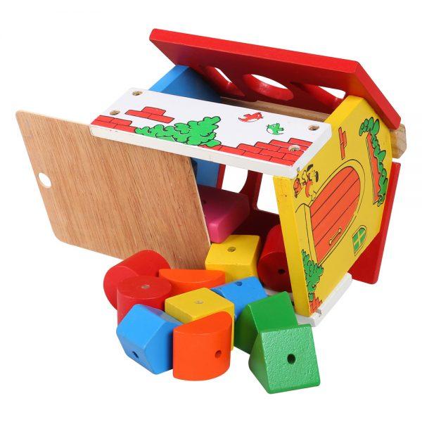 đồ chơi gỗ nhà thả hình và thả thú đa năng