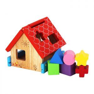 Đồ chơi thả khối học hình qua nhà thả sáu khối