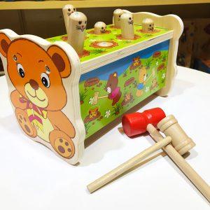 trò chơi búa đập chuột bằng gỗ