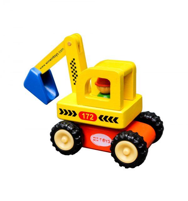 xe máy xúc, máy đào đất bằng gỗ